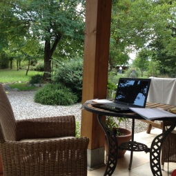 My outdoor office in Basilicata